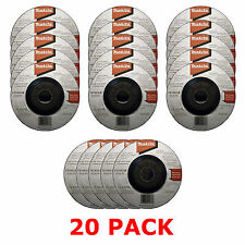"MAKITA 115mm 4 1/2"" GRINDER DISCS - 20 PACK FOR 18V LXT BGA452Z ANGLE GRINDER"
