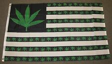MARIJUANA USA FLAG 3'X5' GREEN WEED POT LEAF BUD HASH MARY JANE 3X5 FEET F994