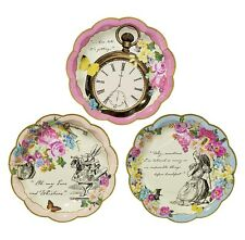 ALICE IN WONDERLAND, TRULY ALICE, PACK OF 12 PLATES, WEDDING/BIRTHDAY/TEA PARTY