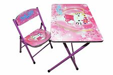 Foldable Study Table and Chair - Hello Kitty (Pink)