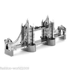 3D Metal Model Puzzle Nano Metallic Laser Cut Jigsaw Kid Toy-London Tower Bridge