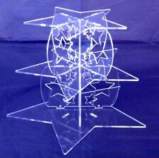 Three Tier Clear Acrylic Star Pillars Wedding & Party Cake Stand