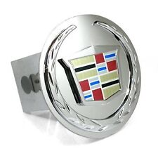 "Cadillac Chrome Emblem Logo 2"" Trailer Tow Hitch Plug Cover New Free Shipping"
