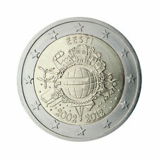 "Estonia 2 Euro (€2) commemorative coin 2012 ""10 - years of Euro"" - UNCIRCULATED"