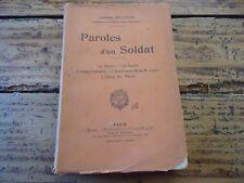 RARE PAROLES D' UN SOLDAT - LA PATRIE L ARMEE UTOPIE DES MILICES 1911 G BRUNEAU