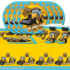 My First 1st JCB Digger Joey Children's Birthday Party Tableware Pack Kit For 8