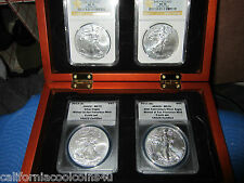 4- American Eagles MS 70 2011S, 2012S, 25th Ann. & 2 - 2013 MS70 West Point BOX