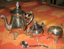 "Arte/Antiquariato/Sheffield/Silverplate "" RANLEIGH "" Tea/Latte/Zucchero/Pz.4"