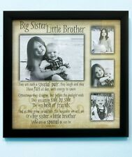 Big Sister Little Brother Sibling Collage Photo Frame Display Children Pictures