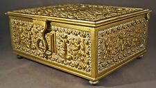 Extraordinary Erhard & Söhne Ormolu Gilt Brass Jewelry Casket, Music Box, c1900!