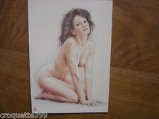 CP carte postale Postcard Illustrateur ASLAN 24 natacha nu fkk sexy pin up