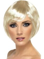 BLONDE SHORT 1920s 20s BOB WIG PARTING Fancy Dress Costume Accessory 42045