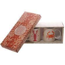Porzellan Tassen Geschenk-Set Hummer & Krabbe