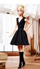 Classic black Dress Silkstone Posable Barbie very Classy Doll New Fashion Model