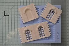 Linka Compatible Arched Window Sections Mould - OO Gauge