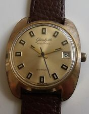 """GUB-GLASHUTTE""-SPEZIMATIC 26j &date GDR WRIST WATCH-GOLD PLATED"