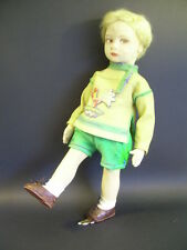 "LENCI Boy Doll 19"" model 110/78 Original ~ Christopher Robin DELIGHTFUL 1929"