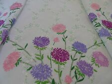 Vintage Hand Embroidered Tablecover,Stunning Florals 124cms x 124cms