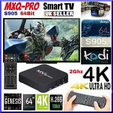 MXQ/7PRO/S1 AIRMOUSE paquete Kodi Android TV Box IPTV Netflix 4K HD TV Reino Unido Libre