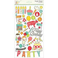 Simple Stories LET'S PARTY BIRTHDAY 6x12 chipboard sheet