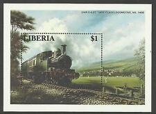 LIBERIA 1996 RAILWAY LOCOMOTIVE TRAINS CRICKET MATCH Souvenir Sheet (No 1) MNH