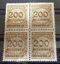 #150 * Germany * 1923 * Inflation * 200.000.000 Mark * MNH * Block of 4