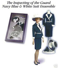 Franklin Mint Princess Diana Navy Blue & White Inspecting of the Guard Suit, NIB