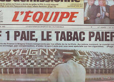 journal  l'equipe 11/12/92 FORMULE 1 FOOTBALL OUEDEC BOLSIC RUGBY RIVES