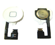 iPhone 4G 4 Home Menu Middle Button Flex Cable Full Assembly Keyboard White UK