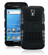 for Samsung Galaxy S II SGH-T989 Tough Rugged Hybrid Hard Stand Case Cover Black