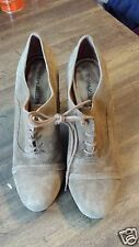 MATISSE OUTBACK BROWN SUEDE LEATHER LACE HEEL ANKLE SHOES  WEST FALEN  10M
