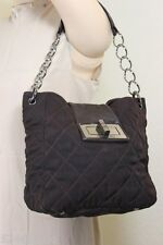 CHANEL Brown Mademoiselle Quilted Canvas Chain Strap Shoulder Bag Tote France