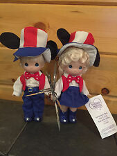 "NEW Precious Moments Disney ""EVERY HEART BEATS TRUE FOR RED, WHITE & BLUE"" Doll"