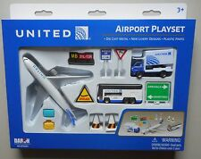 UNITED AIRLINES AIRPLANE AIRPORT PLAYSET TRUCK SIGNS ETC DARON TOYS DIECAST