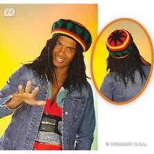 Rasta Hat Beanie Reggae Bob Marley Rastafarian Jamaica Fancy Dress Accessory