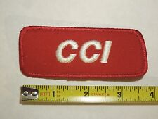 CCI Red and White Rimfire Ammo Company Logo Iron On Patch