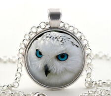 Snowy Owl Pendant Necklace - Bird Lover Silver Jewelry Gift Ideas for Women