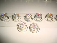 flower diamond stud hair pins hairdo accent party debut weddings headress js