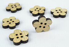 6pcs Large Wooden Buttons 30mm/Flower Shape/Laser Cut/Beads/Sewing/Crafts