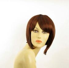 Perruque femme courte Châtain Cuivré Méché Blond Clair/rouge CAROLE 33H130