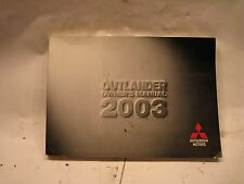 03 OUTLANDER owners manual
