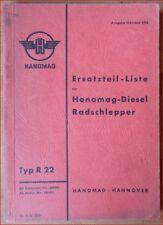 Hanomag Radschlepper Typ R22 Ersatzteilliste
