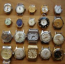Job Lot of 20 Mixed Vintage Mechanical Wristwatches For Parts, Spares or Repair