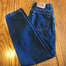 VTG 90's LEVI'S 550 Relaxed Tapered High Waist Mom Blue Jeans Women's 8 28 x 30