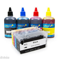 Refillable Ink Cartridges KIT For HP 711 Designjet T120 T520 Hp711