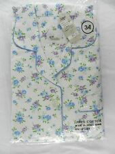 NWT Vintage Womens 34 Floral Flannel Pajamas Violette Hong Kong New British