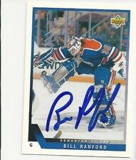 93/94 Upper Deck Autographed Hockey Card Bill Ranford Edmonton Oilers