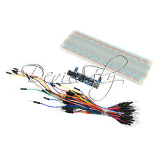 MB102 Power Supply Module 3.3V 5V+MB102 Breadboard Board 830 Point+Jumper cables
