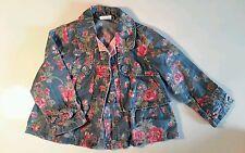 Girls Next floral denim jacket 1-2 years