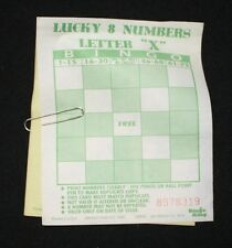 BINGO PAPER Cards 1 on u pick em Green lucky 8 letter X instant 8 100 FREE SHIP